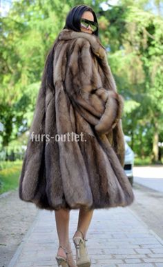 NEW BARGUZIN RUSSIAN SABLE SWINGER FUR COAT CLAS JACKET MINK FOX LYNX CHINCHILLA
