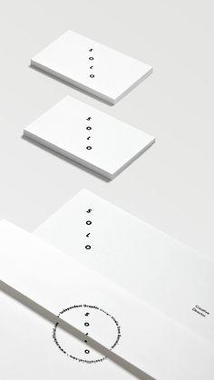 Branding conception black & white | typography / graphic design: Solo |