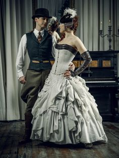 Dark Garden Beau Brummell tailored corset and Dollymop Amelia bridal ensemble. Probably can't afford, but omg the corset lust. Maybe I'll get one someday, not necessarily for the wedding. Sigh.