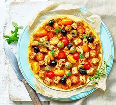 Quorn Vegan Mediterranean Socca Pizza