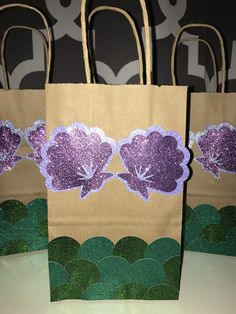 Mermaid Party Favor Bags by ThePluckyPineapple on Etsy