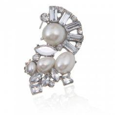 Style Irregular Geometric Shape Rhinestone Alloy Stud Earrings Silver | favwish - Jewelry on ArtFire
