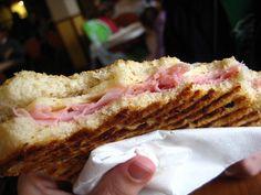 Italian panini toast! I LOVE this.