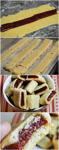 COMO FAZER GOIABINHAS EM CASA, FICAM DELICIOSAS! AMO ESSA RECEITINHA! EXPERIMENTE E SE APAIXONE TAMBÉM! (veja a receita passo a passo) #goiabinha #boiabinhacaseira Baking Recipes, Cookie Recipes, Dessert Recipes, Love Eat, Macaron, Cookies, Biscuits, Sweet Recipes, Delicious Desserts