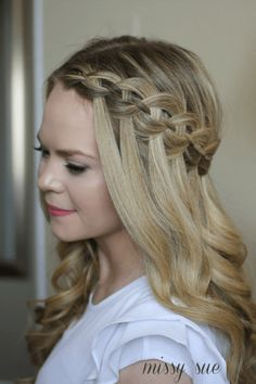 101 Pinterest Braids That Will Save Your Bad Hair Day | 4-Strand Waterfall Braid