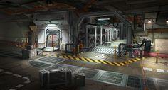 Underground Bunker Hallway