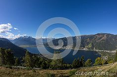 #View From #Mitterberg To #ZellAmSee #Lake #Zell & #Kitzsteinhorn @dreamstime #dreamstime #nature #landscape #austria #salzburg #panorama #season #travel #summer #autumn #fall #vacation #holidays #sightseeing #alps #leisure #bluesky #beautiful #colorful #wonderful #mountains #stock #photo #portfolio #download #hires #royaltyfree