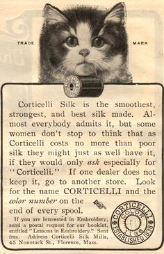 Vintage Advertisement (1904) We're also glad about cats so, perfect!