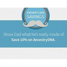Earn Favorite Child status this Father's Day and SAVE 10% on AnestryDNA kits: http://ancstry.me/1TZOinX (Link in bio. Offer valid through 6/19 at 11:59 p.m. ET. ). #fathers #fathersday #AncestryDNA #DNA #genealogy #familyhistory #familytree #ancestry #h