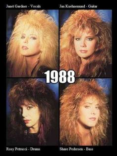 I love the big hair from the This is why I tease my hair so big! Hair Metal Bands, 80s Hair Bands, Rock & Pop, Rock N Roll, Roxy, Heavy Metal Girl, Mode Rock, Women Of Rock, Estilo Rock