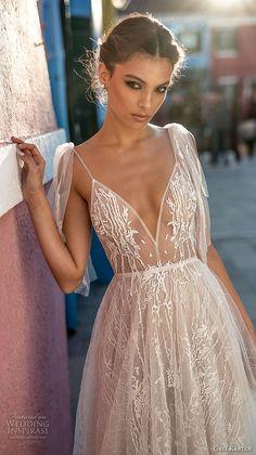 gali karten 2018 bridal spaghetti strap deep sweetheart neckline full embellishment romantic soft a line wedding dress open scoop back sweep train (8) zv