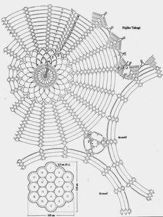 Crochet Art: Crochet Lace Tablecloth Pattern - Wonderful