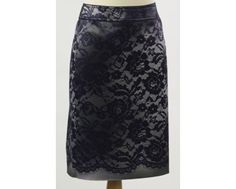 Purple lace effect pencil skirt. This can be paired with the matching sleeveless top and purple jacket all from Apanage and all available on our website www.middletonwood.co.uk Skirt comes in sizes 8,10 and 14