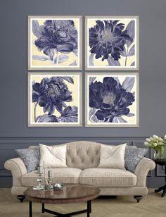 #homedecor #interiordesign #inspiration #decor #design #flowers #spring Framed Art, Indigo, Interior Design, Spring, Poster, Inspiration, Home Decor, Frames, Flowers