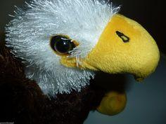 Ganz Webkinz Bald Eagle White Stuffed Soft Brown Body Toy Plush No Code 8 in #GANZ #Webkinz
