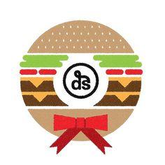 Hamburger Wreath. Happy Holidays! - Dschwen