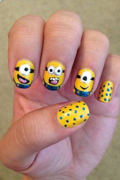 Nail art❤ Minions from Despicable me❤