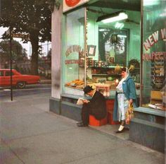 Fred Herzog : New World confectionary, 1965 Dark Photography, Scenic Photography, Photography Gallery, Photography Projects, Artistic Photography, Street Photography, Fred Herzog, Building Painting, Small Town America
