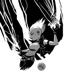 1) There is a Mohawk Storm Tumblr, which is amazing.  2) This is Storm by Mike Maihack. I have this print, and love it.