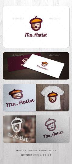 Mr Artist Logo — Vector EPS #artwork #tool • Available here → https://graphicriver.net/item/mr-artist-logo/14580436?ref=pxcr