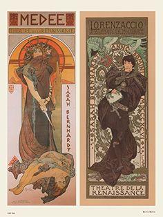 Art nouveau Poster Art Print by Alphonse Mucha Medee