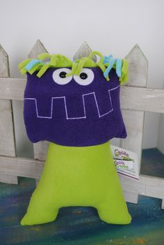 Curly the silly monster by CuddleWumkins on Etsy
