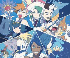 pokemon sun and moon, team skull, guzma, botw Pokemon Manga, Play Pokemon, Pokemon Fan Art, Cool Pokemon, Pokemon Sun, Pokemon People, Pokemon Ships, Water Type Pokemon, Pokemon Universe