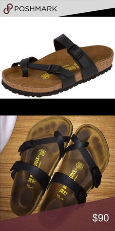 BIRKENSTOCK® MAYARI SANDALS I bought them not even a month ago, but I'm selling cause I want a different pair! Nothing wrong with them at all and a great steal. :) ask about bundles please! I am also open to offers :)  Also have Brandy Melville, Forever 21, J. Crew, similar to Kate Spade, BooHoo, Nasty Gal, ASOS, Victoria Secret, PINK, Hollister, Abercrombie & Fitch, American Eagle, trendy, and some vintage items! Please check out my closet if you have time :) Thanks! Birkenstock Shoes…