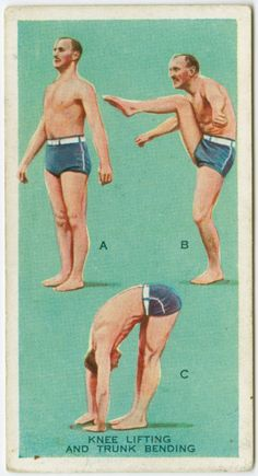 vintage exercise pamphlet - i think this would be hilarious framed in the bathroom