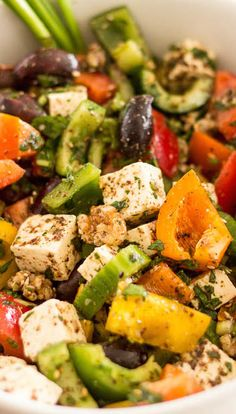 Greek Style Bell Pepper Salad