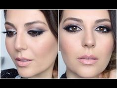 Have you always wanted to achieve that beautiful cat eye look with your eyeliner? If you're having a hard time, there are some easy cat eyes makeup tips you can try out. These tips will help you achieve the look every time in a matter of minutes. Makeup Tips For Brown Eyes, Smokey Eye For Brown Eyes, Eye Makeup Tips, Glam Makeup, Bridal Makeup, Makeup Style, Hair Makeup, Cat Eye Makeup Tutorial, Eye Tutorial