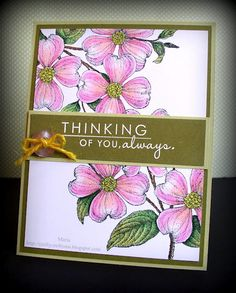 pink and green with dark brown and kraft card stock