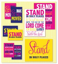 Stand in Holy Places Love the Day - free Printable
