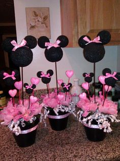Minnie mouse center pieces