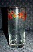 Libbey Christmas Holly Ribbon Four Tumblers