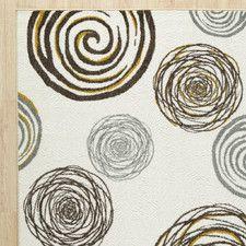 Concentrix Cream Swirlz Geometric Area Rug