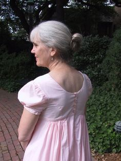 This is my original Regency gown pattern, modeled after the styles of the middle Regency and particularly appropriate for 1810s impressions. If you're new to this time period, this is the pattern I recommend starting with, as it goes together very easily. Read more... or add to cart:   Size 18-26? Please add the supplement to your order:  Read more...