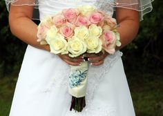 Summer Blue Pink White Yellow A-line Bouquet Wedding Dresses Photos & Pictures - WeddingWire.com