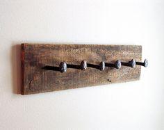 Rustic wall hook towel hook railroad spike coat by TumbleweedCabin