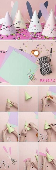 DIY Bunny Party Hats   DIY Easter Crafts for Kids to Make