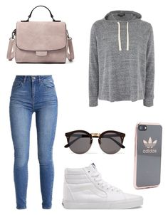 """Untitled #4"" by sarahperri on Polyvore featuring Vans, Topshop, Illesteva and adidas"