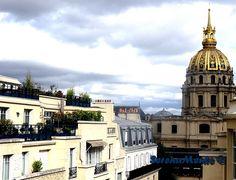 Les Invalides, Paris ! City ! La vue sur les Invalides à l'hôtel les Cinq Codet !  Découvrez mon avis sur le Eyes Absolute de Filorga, un soin contour des yeux d'une efficacité redoutable découvert lors d'un soin à l'hôtel les Cinq Codet !