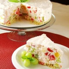 Fruit Salad Cheesecake ~ Not your ordinary fruit salad!