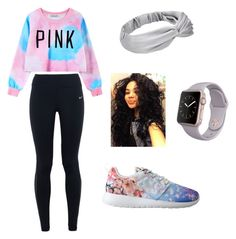 """""""#comfyrunoutfit"""" by tierraluvpandas on Polyvore featuring Chicnova Fashion, NIKE, women's clothing, women, female, woman, misses and juniors"""