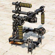 DSLR 3 axis Brushless handle Gimbal Stablizer Camera Mount w/ motor & controller