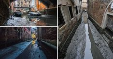 02/02/2018 - Venice's canals have run dry following weeks without rain