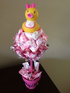 Duck Themed Baby Girl Shower Tree