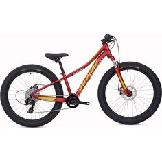 The 2019 Specialized Riprock 24 is a confident and versatile kids bike with high volume tyres on wheels, a suspension fork and mechanical disc brakes. Kids Mountain Bikes, Mountain Biking, Kids Bike Sizes, Candy Red, Fork, Confident, Geometry, Purpose, Wheels