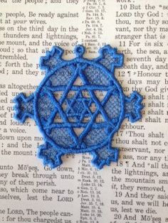 Lace Star of David Machine Embroidered by AliDianneCreations