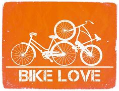 Bike Love Graphic Print by WilliamDohman on Etsy from OhDierLiving on Etsy. Logo Velo, Bike Logo, Bicycling Magazine, Graphic Prints, Poster Prints, Bike Poster, Cycling Accessories, Bicycle Art, Bicycle Painting
